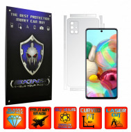 Samsung Galaxy A51 - INVISIBLE SKINZ UHD AutoRegeneranta - SPLIT CUT, Folie Protectie Ultra-Clear pentru Carcasa, Full Case Cover (Carcasa Spate si Laterale),Full Glue