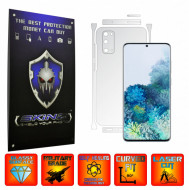 Samsung Galaxy S20, 5G - INVISIBLE SKINZ UHD AutoRegeneranta - SPLIT CUT, Folie Protectie Ultra-Clear pentru Carcasa, Full Case Cover (Carcasa Spate si Laterale),Full Glue