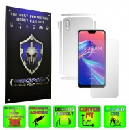Asus Zenfone Max Pro (M2) - INVISIBLE SKINZ HD - SPLIT CUT, Folie Protectie Ultra-Clear sau Mata Antiamprenta, Full Body Cover (Ecran,Carcasa Spate,Laterale),Full Glue