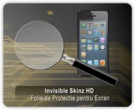 INVISIBLE SKINZ HD, Folie Protectie Ecran Ultra-Clear sau Mata Antiamprenta, Full Display Cover,Full Glue