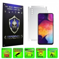Samsung Galaxy A50 - INVISIBLE SKINZ HD - SPLIT CUT, Folie Protectie Ultra-Clear sau Mata Antiamprenta pentru Carcasa, Full Case Cover (Carcasa Spate si Laterale),Full Glue