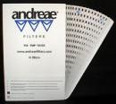 Filtru carton labirint Andreae Alb [10 mp]