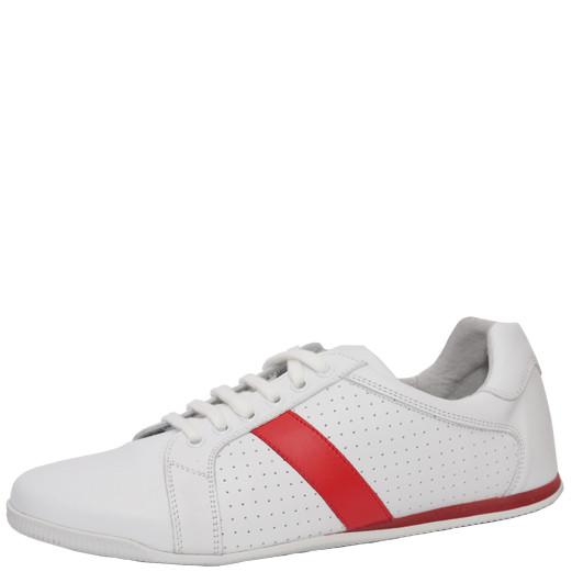 Pantofi sport Almi albi cu talpa joasa