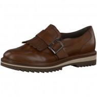 Pantofi Jana dama din piele maro cognac