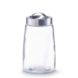 Borcan sticla 1500ml + capac inox Ø12,5x22,5