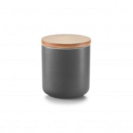 Doza ceramica cu capac bambus,200 ml