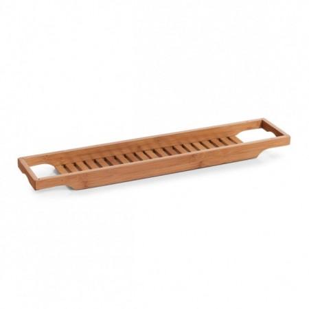 Suport din lemn de bambus,pentru accesorii baie 14,3 x 70 cm