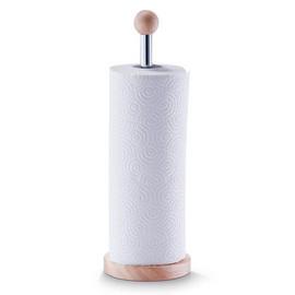Suport rola hartie lemn/metal cromat Ø12,5x35cm