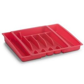 Suport tacamuri plastic extensibil 28-48x38x6,5cm,ROSU