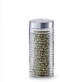 Borcan sticla 1400 ml capac inox Ø10,5x22,5