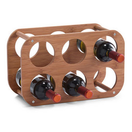 Poze Suport sticle vin bambus - 6 sticle 38x16x24cm