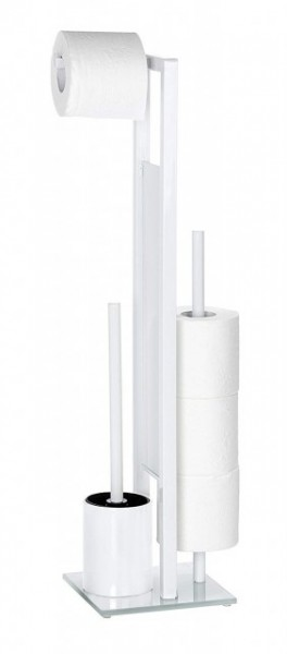 Suport hartie igienica 3 role +perie toaleta,Wenko E