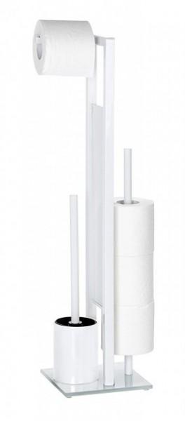 Suport hartie igienica 3 role +perie toaleta