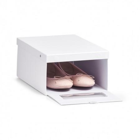 Cutie alba pentru depozitarea pantofilor