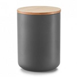 Doza ceramica cu capac din bambus ,1500 ml