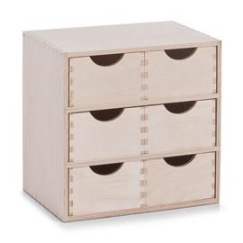 Dulap 6 sertare - lemn mesteacan - 28x20x28 cm