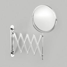 Oglinda perete extensibila1x/3x metal cromat Ø17; 9-45x18,5x37cm