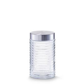 Borcan sticla 1000ml cu capac inox