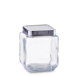 Borcan sticla 1100 ml cu capac din aluminiu