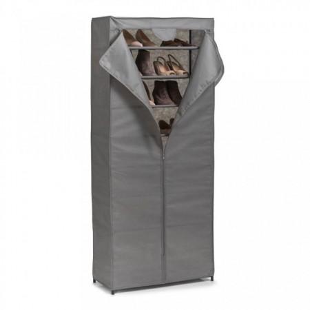 Organizator gri din fleece si metal,cabinet pantofi