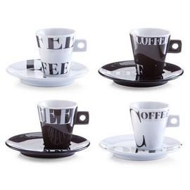 Set espresso 8 piese portelan