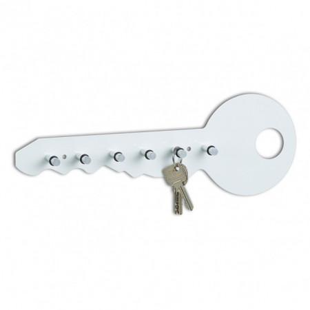 Suport pentru chei,alb,6 carlige