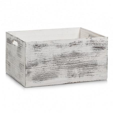 CUTIE ALBA DIN LEMN,RUSTIC,40 X 30 CM,ZELLER