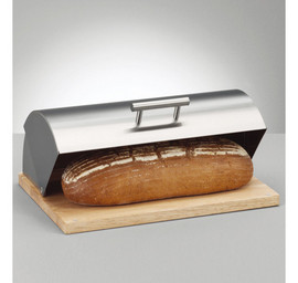 Cutie depozitat paine - inox si lemn 39,5x28x16,Zeller E