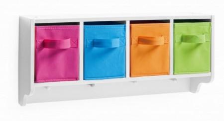 Dulapior pentru perete multicolor din MDF si textil,pentru copii