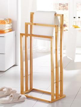 Suport pentru prosoape bambus 42x24x81,5 cm