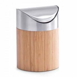 Cos de gunoi pentru masa inox-bambus optic