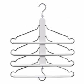 Umeras haine multiplu metal/ lemn alb