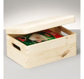 Cutie depozitare lemn cu capac 30x20x14cm,ZELLER E