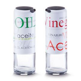 Recipient sticla ulei / otet Ø5,5x17cm 2/set