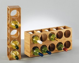 Suport bambus pentru sticle