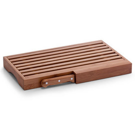 Suport pentru taiat paine + cutit bambus 39,5x23,5x4