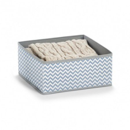 Cos pliabil alb/gri din fleece storage box,ZELLER
