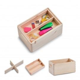 Cutie lemn compartimentata 3buc/set
