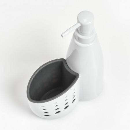 DISPENSER ALB/GRI DIN PLASTIC,350 ML.,ZELLER