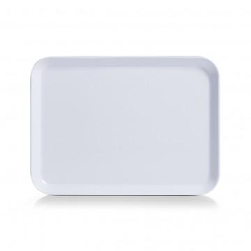 Tava melamina alba, 24 x 18 cm