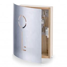 Cutie pentru chei lemn/inox 21,5 x 6 x 24,5cm