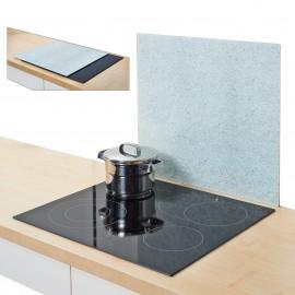 Placa sticla-protectie perete-model Granit