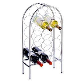 Suport vin metal cromat 33,5x16,5x62cm