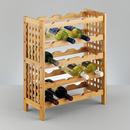 Suport sticle de vin bambus 50x23x60cm