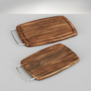Tocator lemn acacia cu maner 34x20x2cm