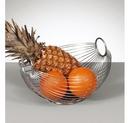Cos fructe oval metal cromat,ZELLER E