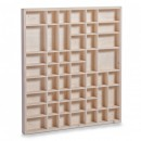 Decoratiune din lemn de pin pentru perete,46 x 52 cm