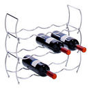 Suport sticle de vin metalic - 3 piese/set
