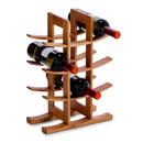Suport vinuri bambus 29x16x42cm