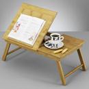 Tava servit in pat + suport carte bambus 55x33x21,5cm